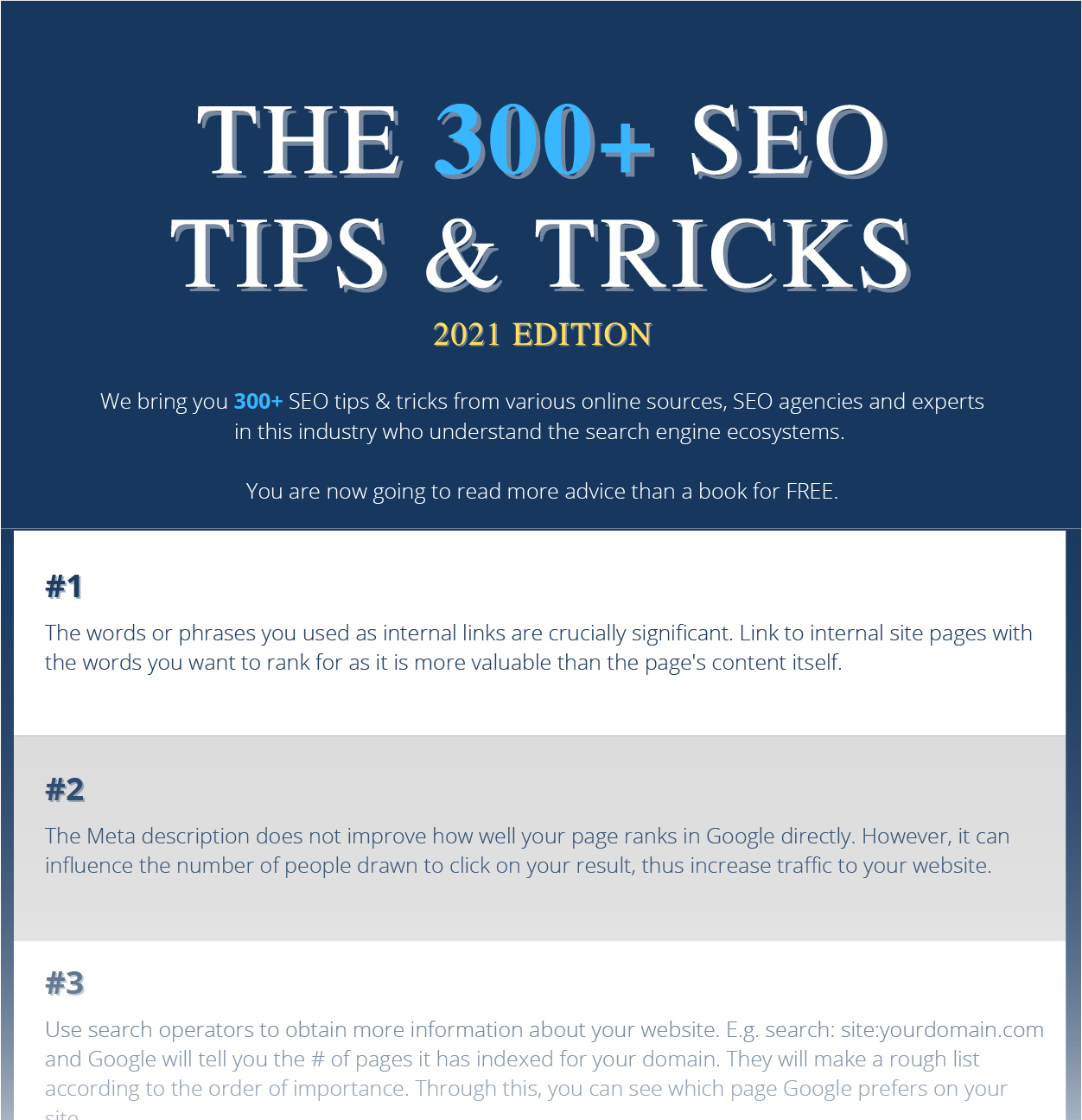 Download 300+ SEO Tips & Tricks - Outrankco